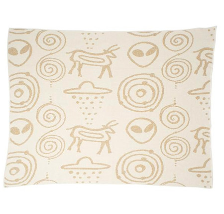 Aelfie Roswell Gold Throw Blanket