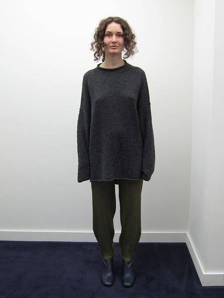 Lauren Manoogian Oversized Rollneck, Dark Charcoal