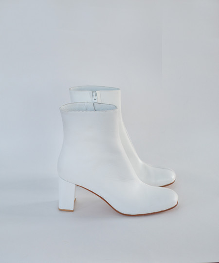 Maryam Nassir Zadeh White Calf / White Shine Agnes Boot