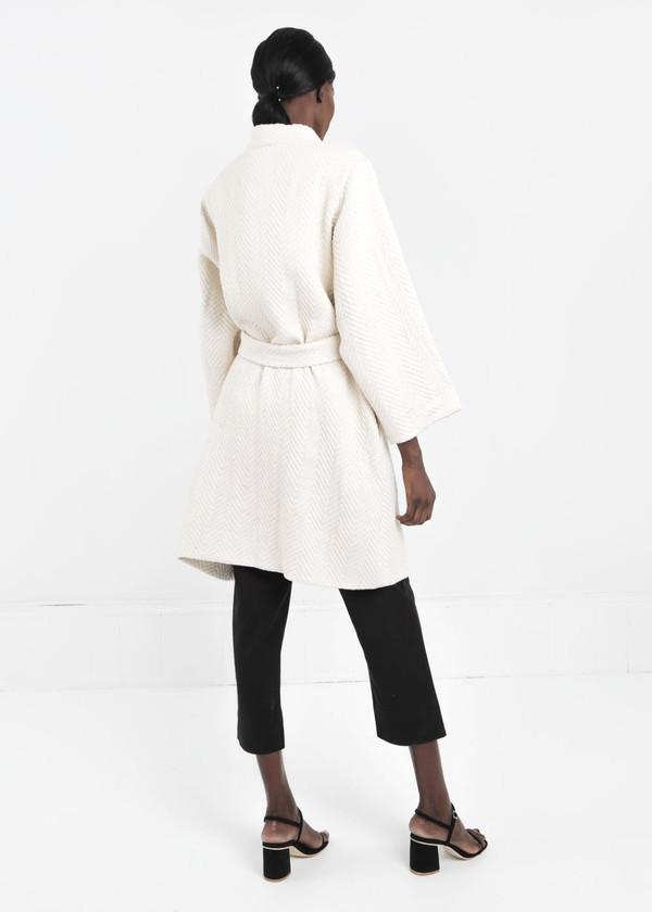 Wray Natural Mantle Robe Coat