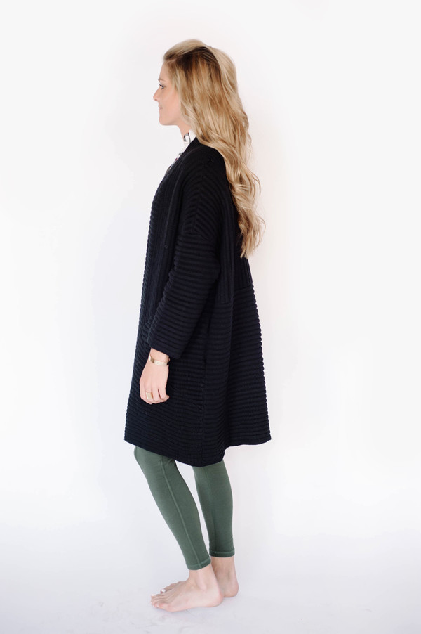 fate Oversized Rib Cardigan