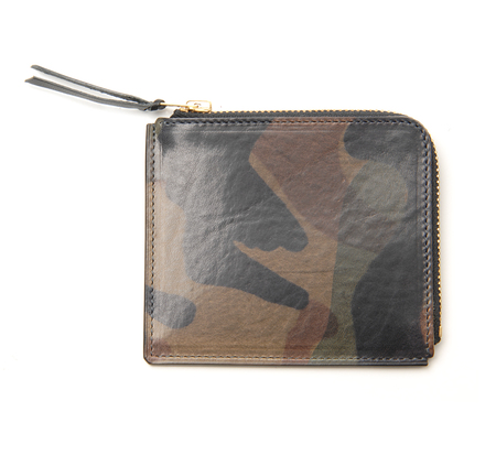 Anchor Bridge AB Short Zip Grey Camo Wallet
