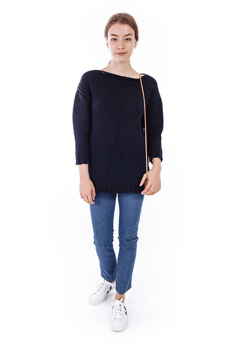 esby Andrea American Sweater in Navy
