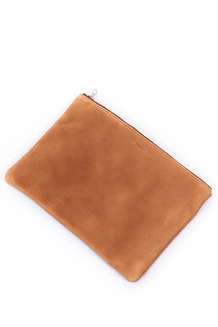 BAGGU Medium Size Flat Pouch in Saddle
