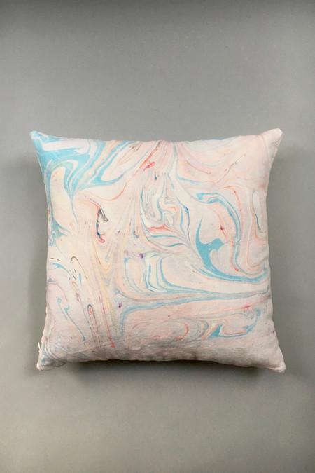 Christina Kosinski Marbled Linen Pillow - Pink/Blue