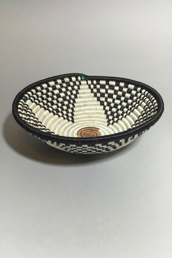 All Across Africa Medium Black/Green Hope Basket
