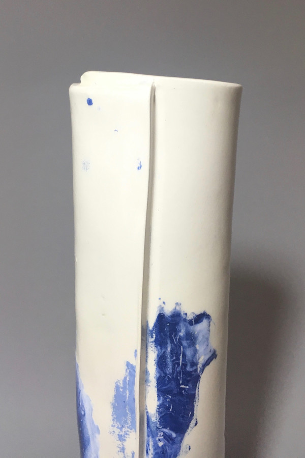 Workaday Handmade Blue Speckled Vase