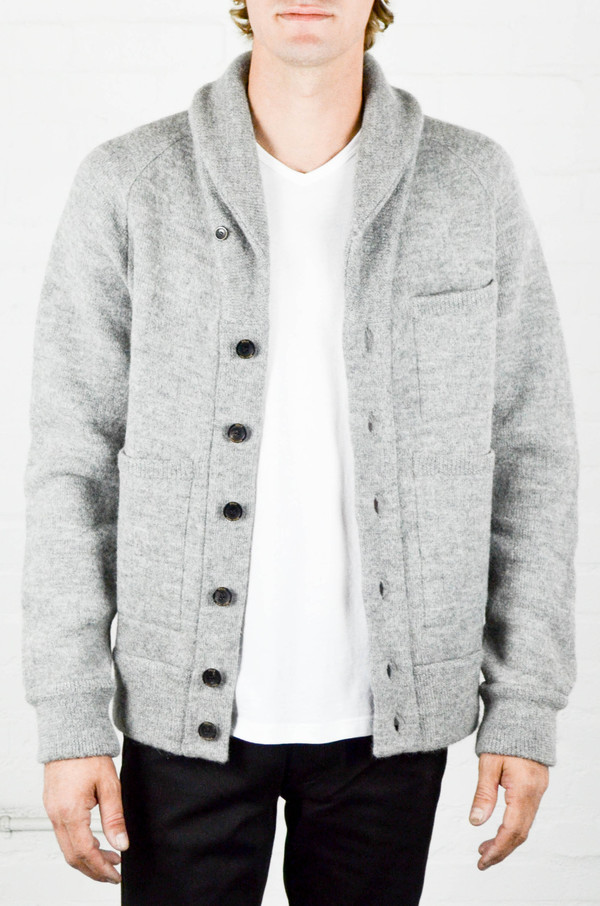 Men's Apolis Boiled Wool Shawl Collar Cardigan