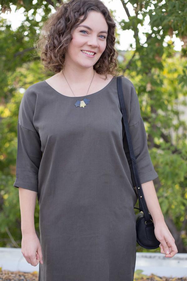 Natalie Joy Elongated Half Star Necklace