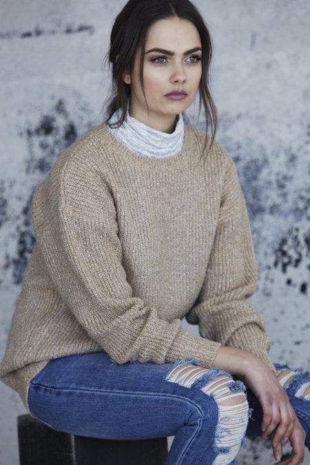 Callahan Heathered Boyfriend Sweater