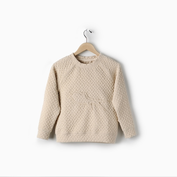 Andorine Cream-Ivory Swallow Sweatshirt