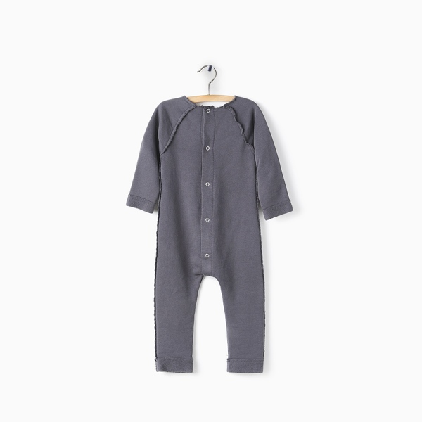 Andorine Grey Fleece Jumpsuit