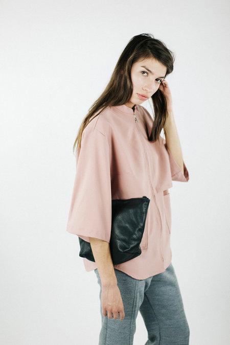 House of Sunny Basic Up Shirt - Lust Pink