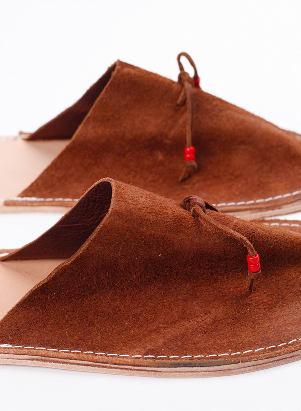 Men's MAPLE Home Slippers Suede Tan