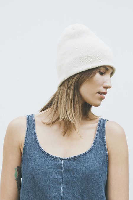 Bare Knitwear Andes Beanie in Ivory