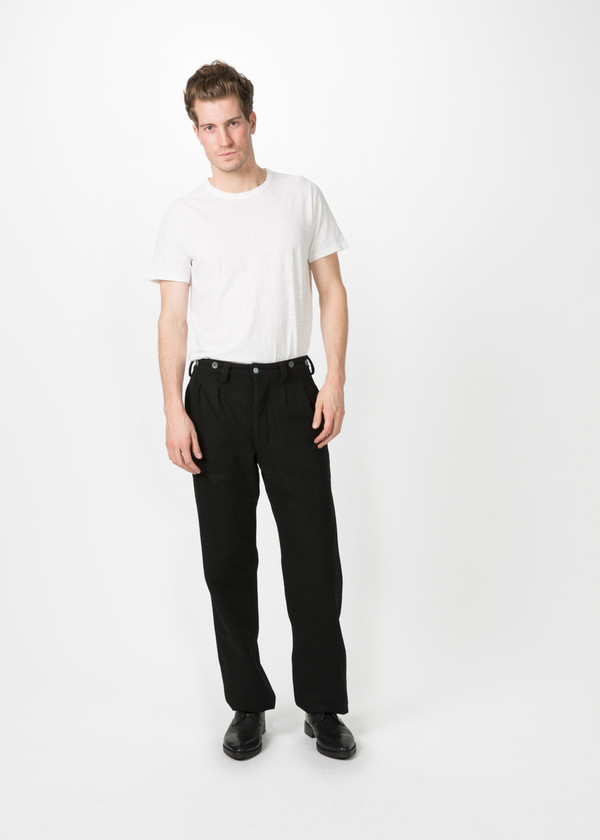 Men's Nigel Cabourn Pleated Wool Chino