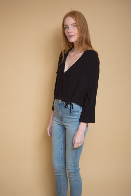 First Rite Crossover Blouse / Black