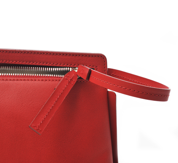 Red Medium Shoulder Pochette by Bonastre
