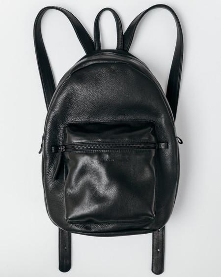 Baggu Black Leather Backpack