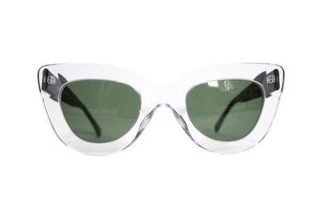 Dusen Dusen Clear Triangle Sunglasses