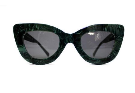 Dusen Dusen Green Marble Triangle Sunglasses