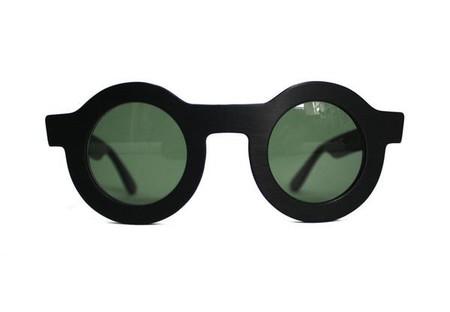 Dusen Dusen Matte Black Circle Sunglasses