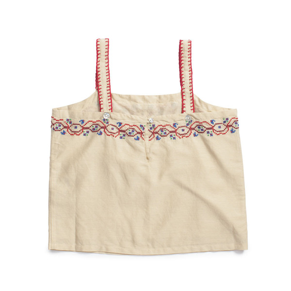 Caramel Baby & Child Chives Embroidered Top