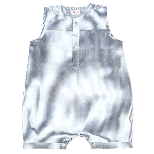 Ketiketa Eole Baby Shortalls Blue Stripes