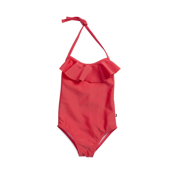 Oeuf Halter Bathing Suit Coral