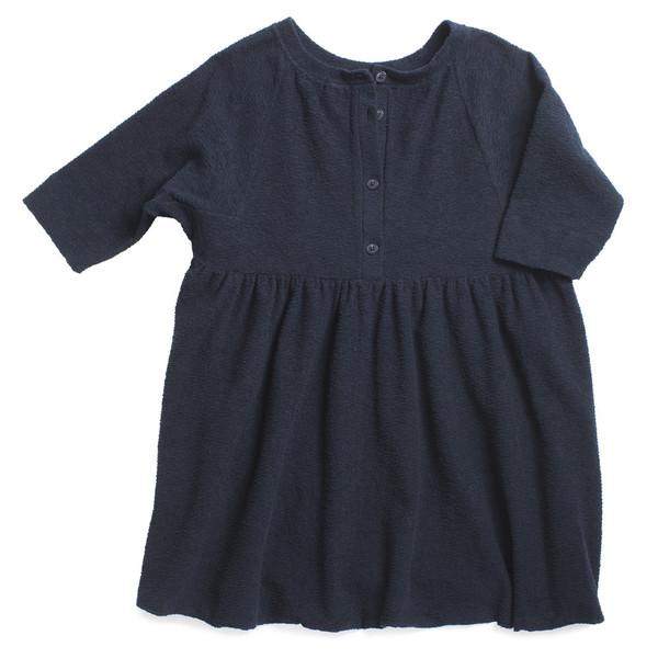 Caramel Baby & Child Kawakawa Dress Navy Textured Fleece