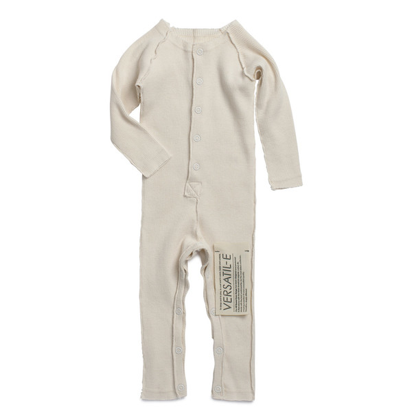 Versatil-e Long Sleeve Ribbed Baby Jumpsuit