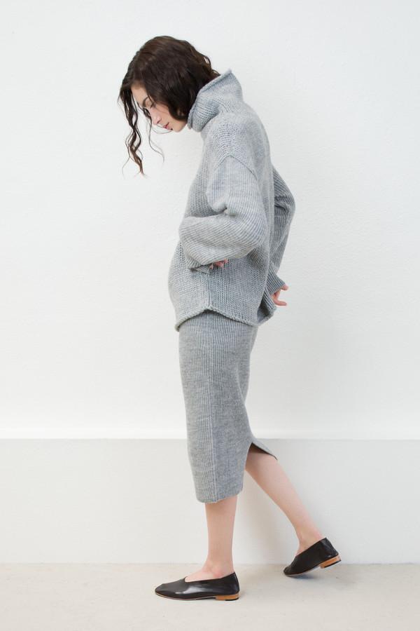 Micaela Greg Melange Grey Tube Skirt