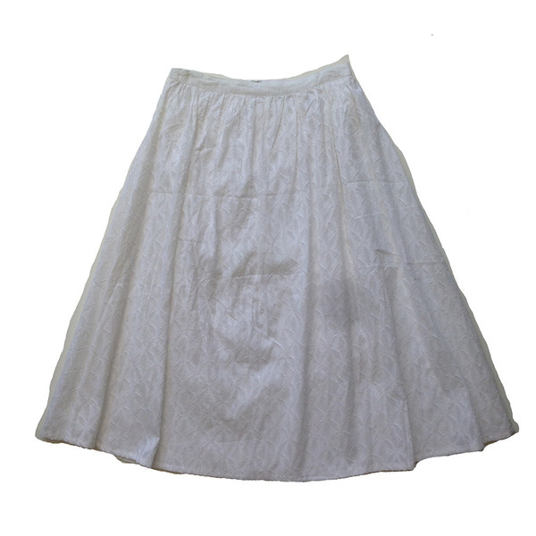 Covet Midi SKirt - White