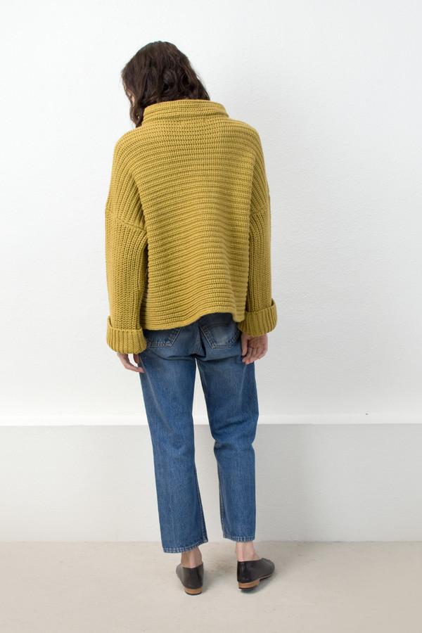 Micaela Greg Ochre Parallel Pullover
