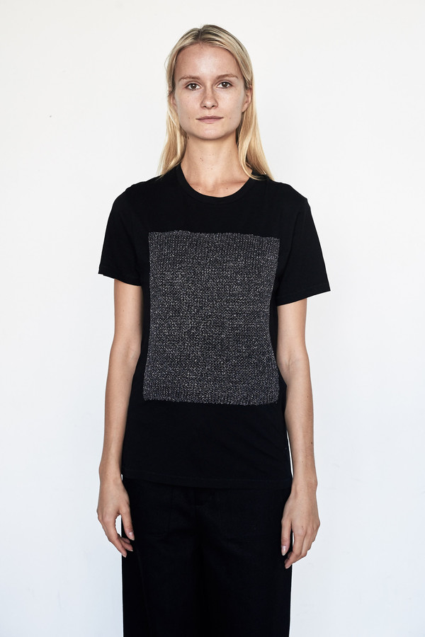Correll Correll Cotton Metallic Knit Tee