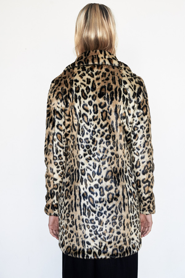 Goosecraft Faux Fur Coat - Panther