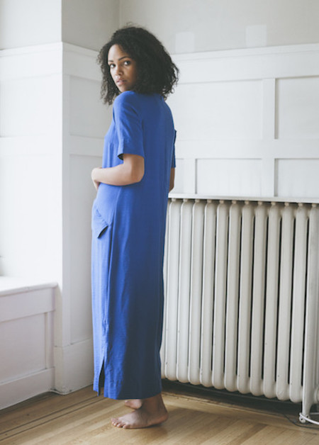 Sunja Link Blue Flap Pocket Dress