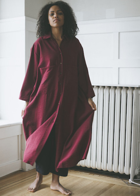 Sunja Link Ox Blood Shirt Dress