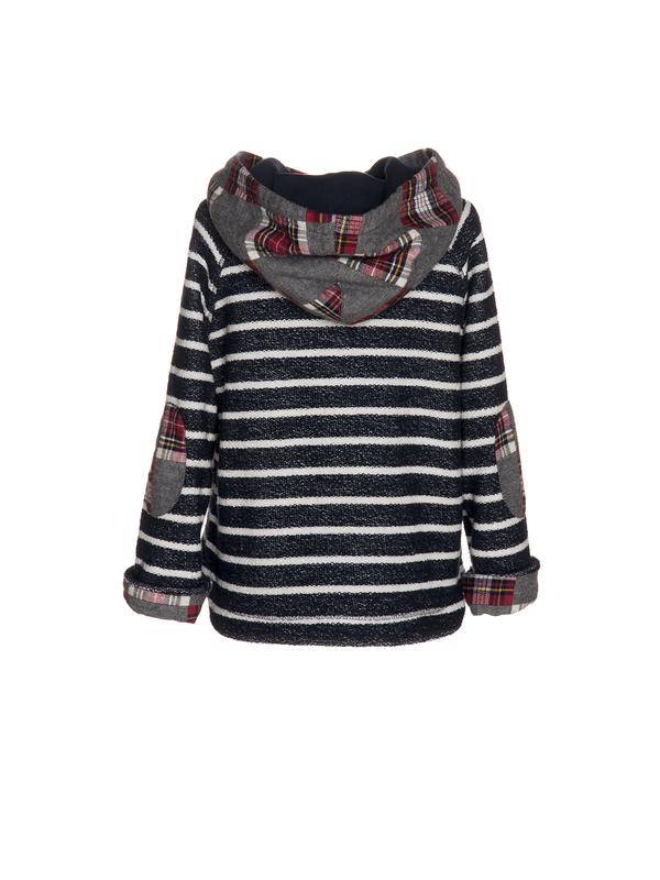 Nanos Stripe and Plaid Hooded Sweatshirt - Coucou Boston