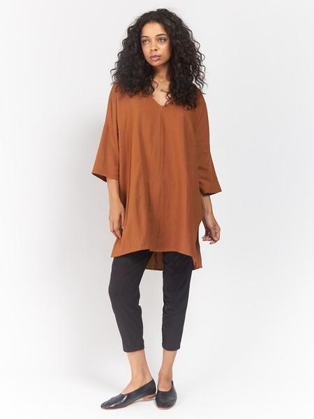 Ali Golden Kimono Tunic Rust O/S