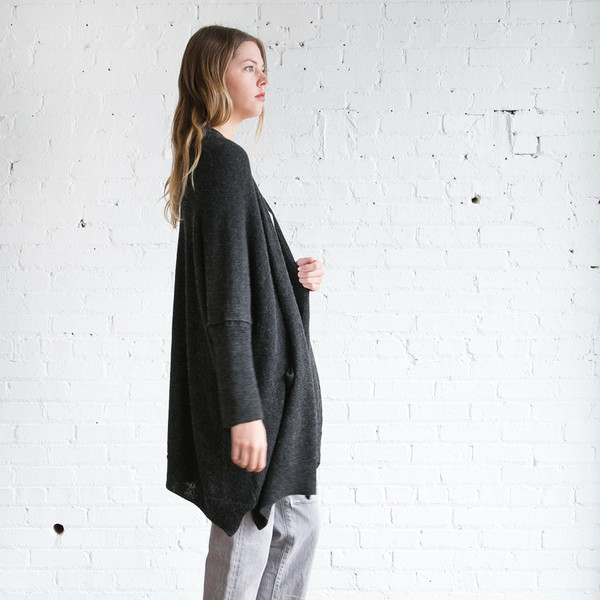 Lauren Manoogian Wide Cardigan Dark Charcoal -SOLD OUT