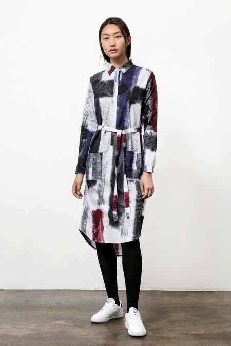 Osei-Duro Causa Dress in Mauve Brushstrokes