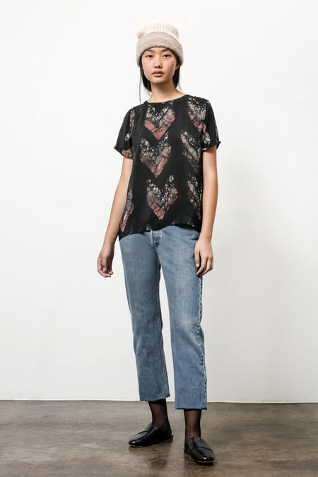 Osei-Duro Note T in Silk Crepe Chevrons