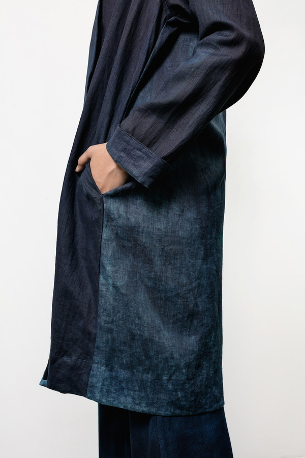 Osei-Duro Theca Coat in Natural Indigo
