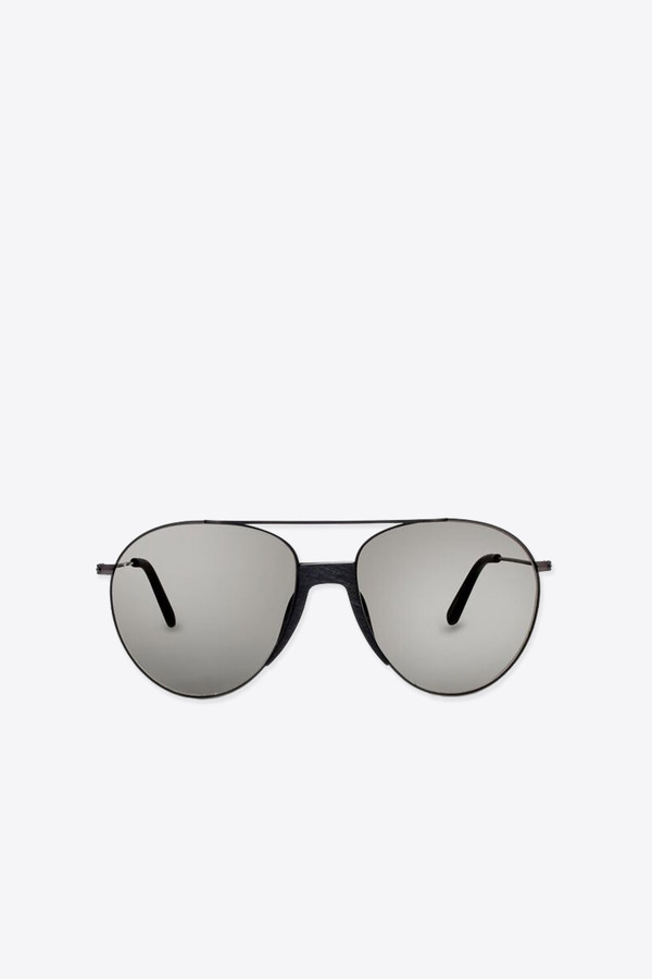 Men's Smoke x Mirrors Fortunate son sunglasses in black/grey wood