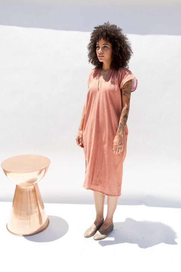 Miranda Bennett In-Stock: Everyday Dress, Lined Cotton Gauze in Noon