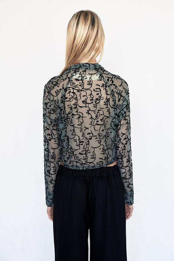 ECKHAUS LATTA Short Button Front Shirt