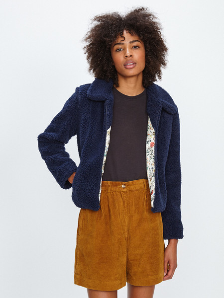 Samantha Pleet SHEEP JACKET / NAVY BLUE