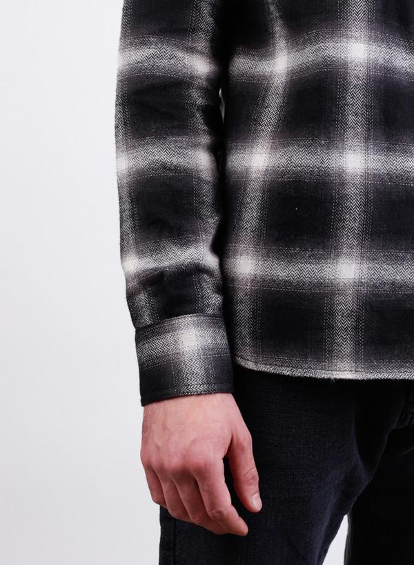 Men's 3Sixteen Crosscut Flannel Black Ombre