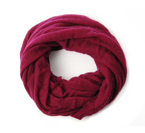 Burgundy Cashmere Tube Scarf by Botto Giuseppe